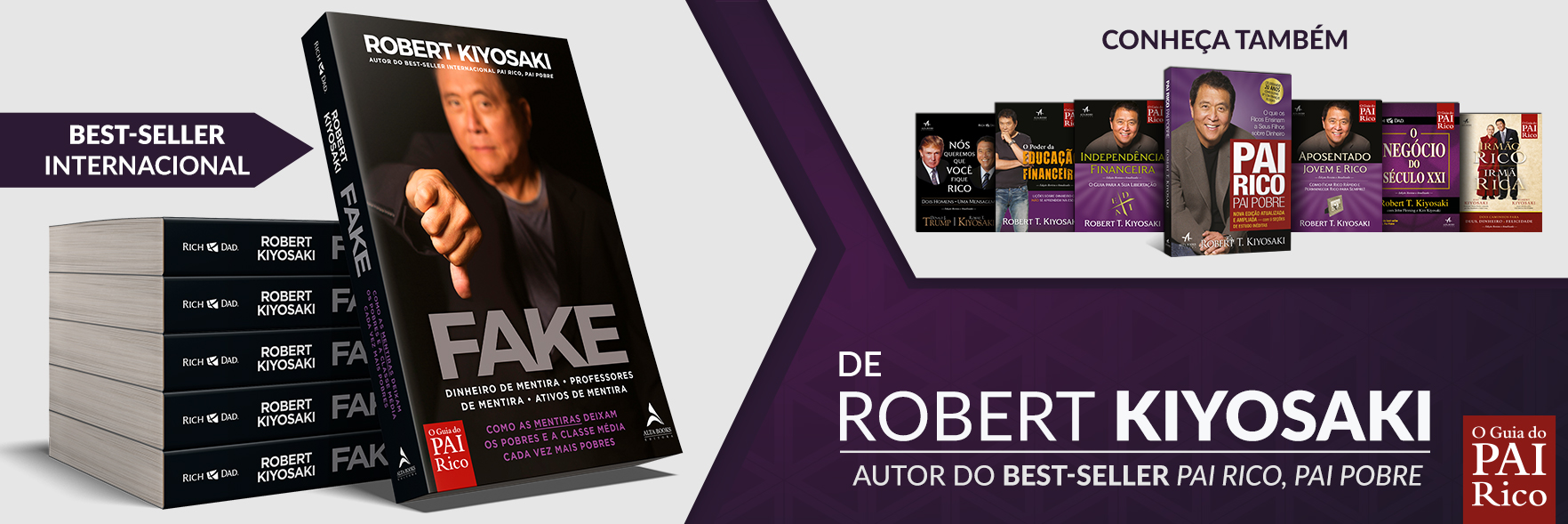 Banner do livro Fake